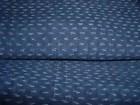 Antique Hemp Cloth, Kasuri in Aizome Indigo Blue