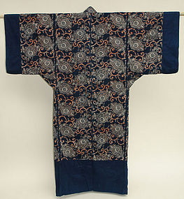 Japanese Yogi, Kimono Shape Futon Bed Cover, Katazome