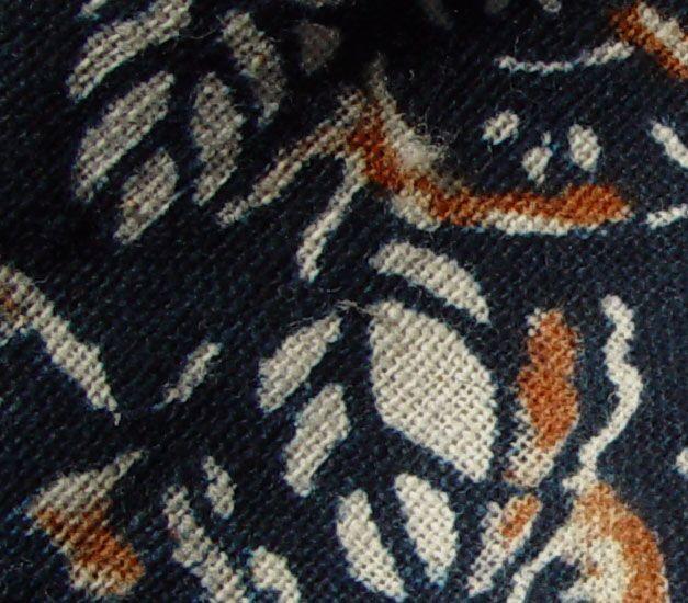 Japanese Yogi, Kimono Shape Bed Conforter, Katazome Aizome Dye
