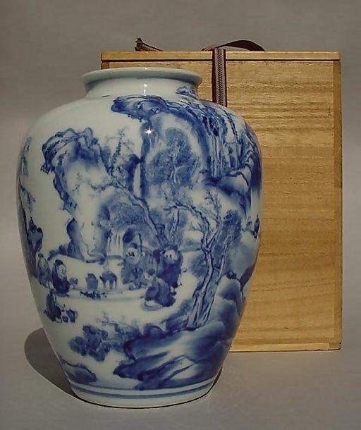 Japanese Kutani Vase, Chinese Landscape