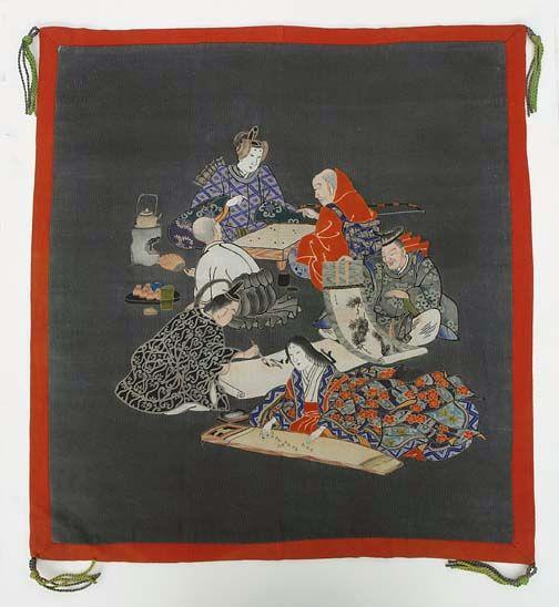 Japanese fukusa, Nobleman's Four Accomplishments