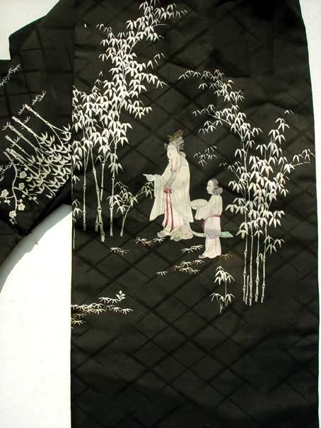 Japanese Obi, Court Ladies in Bamboo Grove