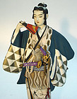 Japanese Hakata Doll,  Young  Samurai in Kabuki