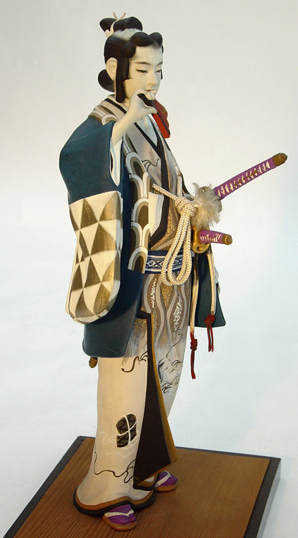 Japanese Hakata Doll,  Young  Samurai in Kabuki