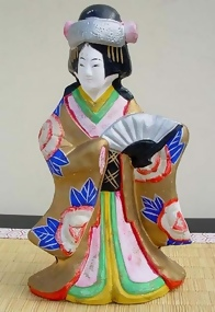 Japanese Clay Doll - Pretty Bride