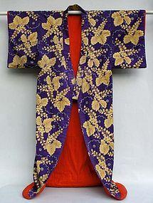 Japanese Uchikake Robe, Kabuki Stage Costume