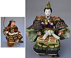 Antique Japanese Dolls, Emperor and Retainer