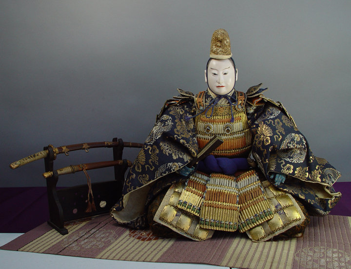 Japanese Antique Musha Ningyo Doll, Emperor General