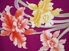 Daffodils on a Purple Silk Roll