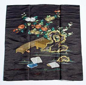 Antique Fukusa, Japanese Gift Cover, Kinki Shoga
