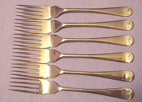 HARRISON & FISHER (SHEFFIELD) FISH KNIVES & FORKS
