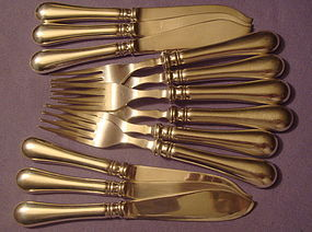 VINTAGE ERCUIS FISH KNIVES & FORKS � VERY GOOD