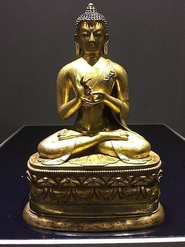 18th Century Tibetan Bronze Figure of Buddha