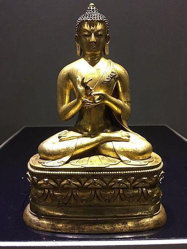 18th Century Tibetan Bronze Figure of Buddha