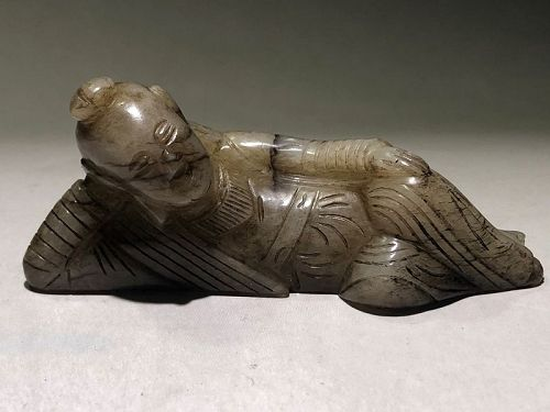 13th c Chinese Jade Carved Figure