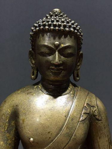 14th c Tibet Bronze Buddha