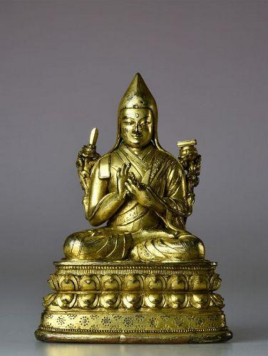 17th c Mongolia Bronze Tsongkhapa