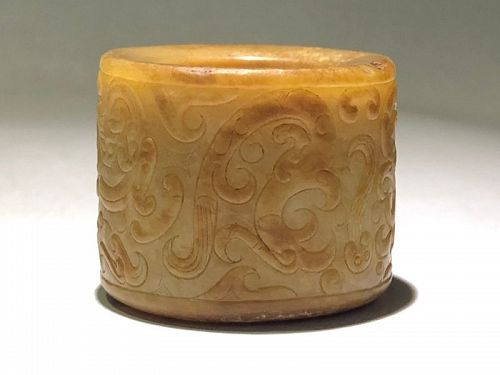 16th Century Chinese Jade Ring
