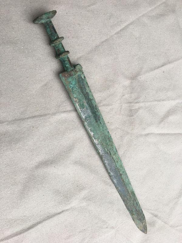 An old bronze sword