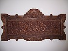 A Massive Indonesian Teak Wood Carved Panel