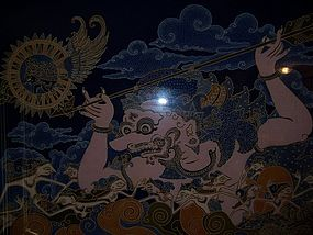 """A Good and Large Vintage Indonesian Batik """"Painting"""""""