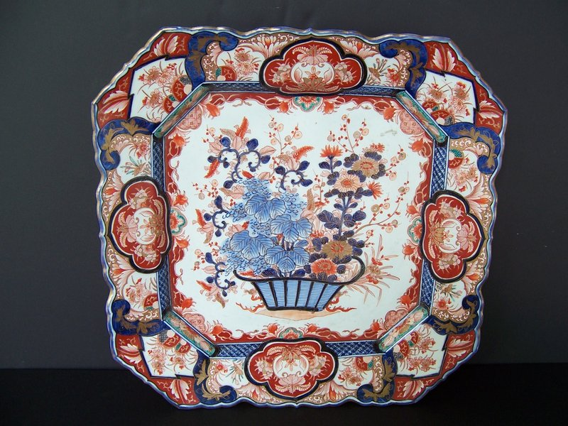 A Fine and Large Imari Charger, Meiji Period, 1868-1912