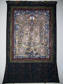 A Large and Fine Vintage Thangka, Tibetan or Nepalese