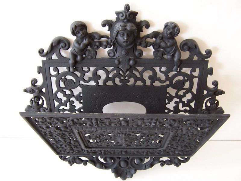 A Fine Cast Iron Letter Holder, Late 19th Century