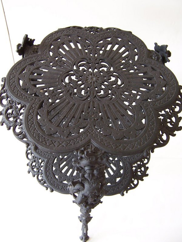 A Fine Cast Iron Plant Stand, late 19th Century
