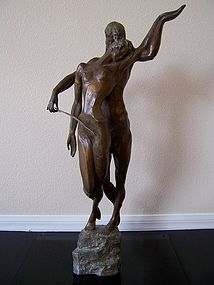 "Misha Frid, ""The Cello Player"" in Bronze"