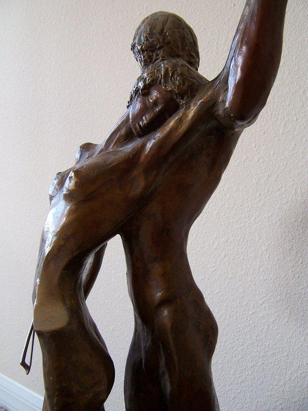 """Misha Frid, """"The Cello Player"""" in Bronze"""