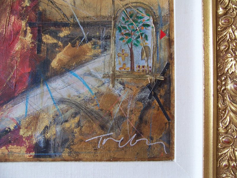 A Lovely Hand-Embellished Serigraph by Janet Treby