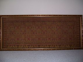 A Fine And Large Khmer (Cambodian) Silk Textile, Framed