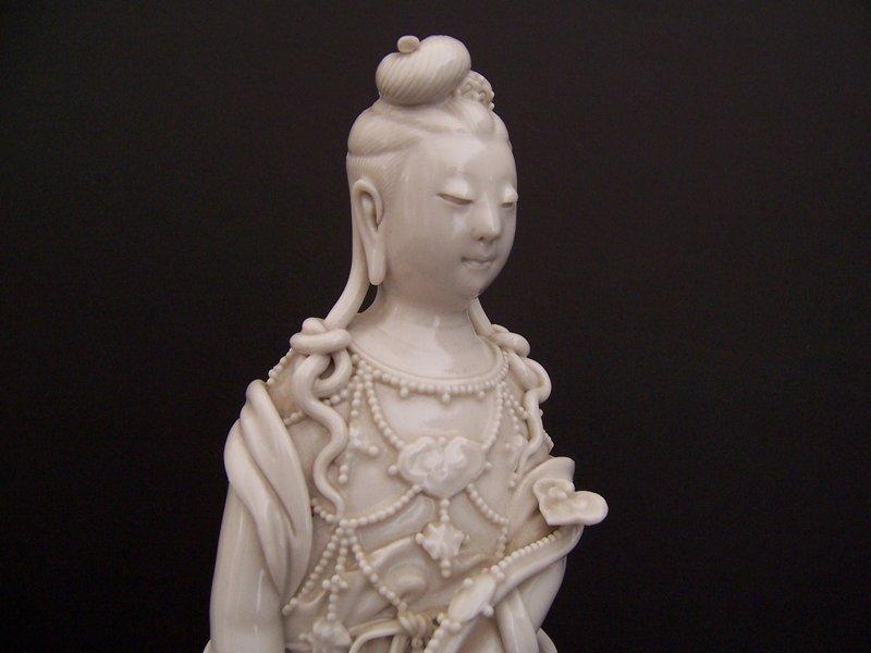 A Beautiful White Porcelain Guanyin,  Jingdezhen