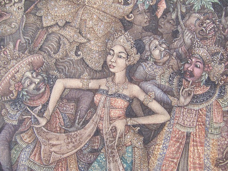 A Superb Original Indonesian Barong Dance Painting