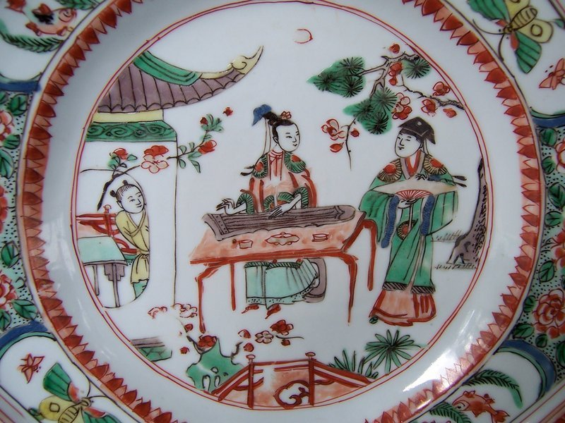 A Fine Famille Verte Dish, Kangxi Period (1662-1722)