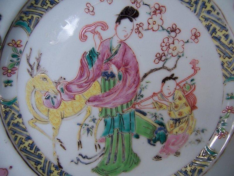 A Fine Rose-Verte Dish, Yongzheng Period (1723-1735)
