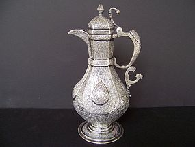 A Beautiful 19th Century Kashmiri Silver Teapot
