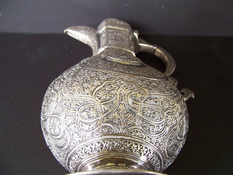 A Beautiful 19th Century Kashmiri Silver Teapot