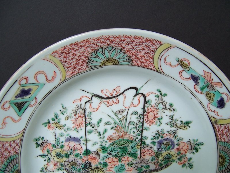 A Good Kangxi Period (1662-1722) Flower Basket Plate