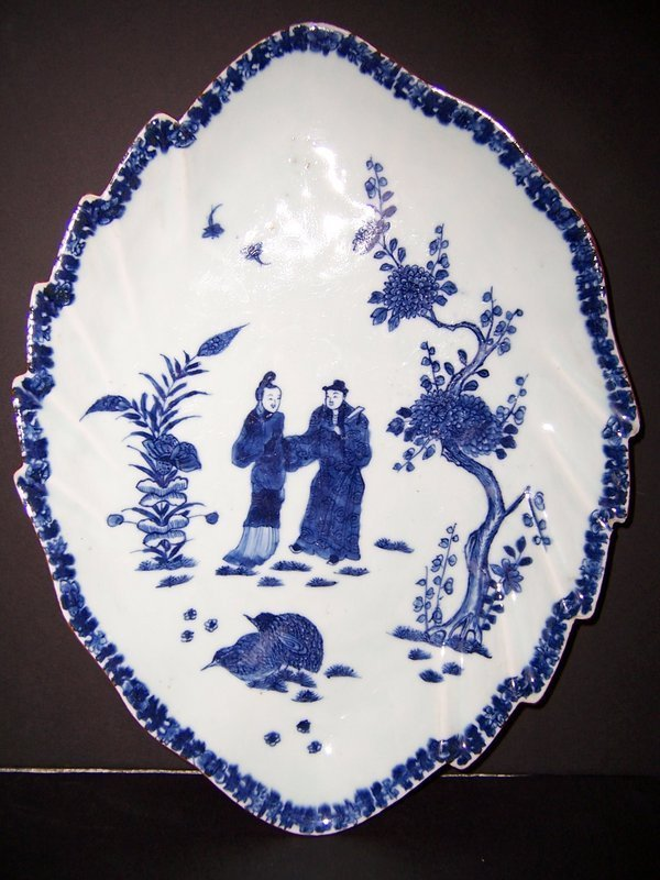 A Large Qianlong Period (1736-1795) Two Quail Platter