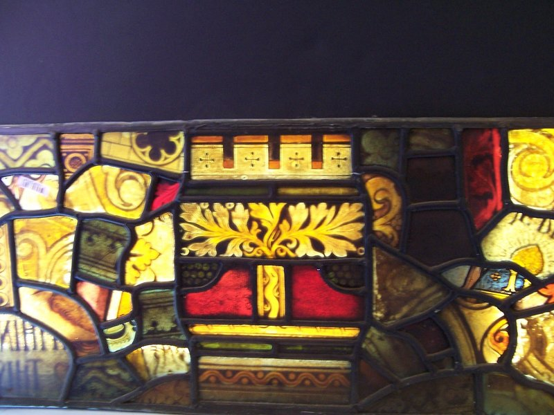 # 3 of Three Fine 19th Century Stained Glass Panels