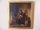 Hermann Werner, Original Oil Painting, Dated 1868