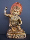 A Large Gilt Copper Repousse Vajrapani, 18th century