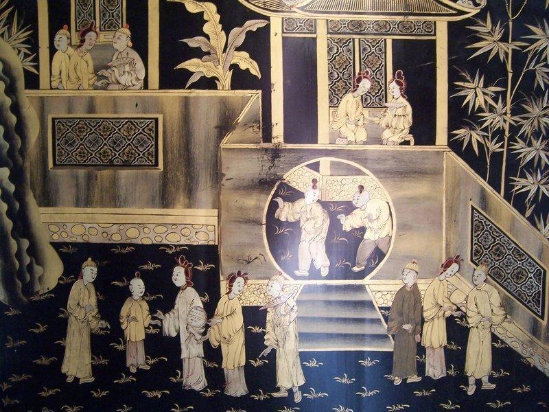 Final Photos:  Gilt Lacquer Export Screen, 19th Century