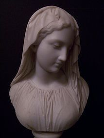 A Marble Bust by Giovanni Maria Benzoni,  dated 1868