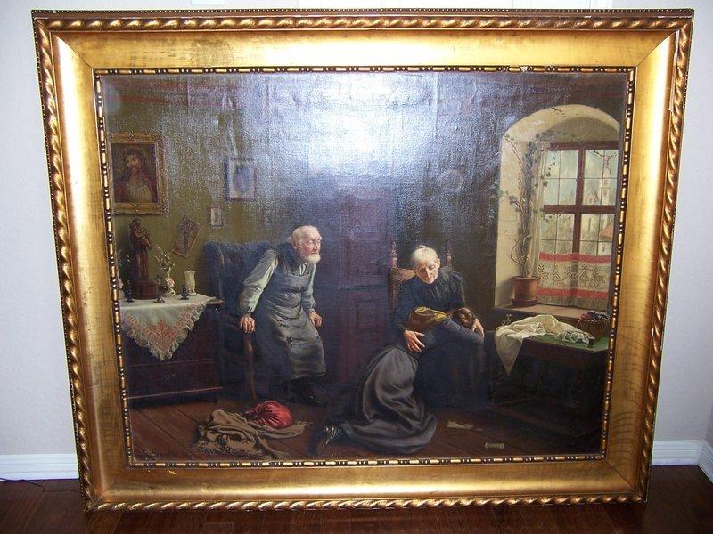 "Carl Johann Spielter, ""Sad News,"" Painted in 1901"