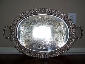 A Superb Victorian Silver Tray, Mappin and Webb, 1897