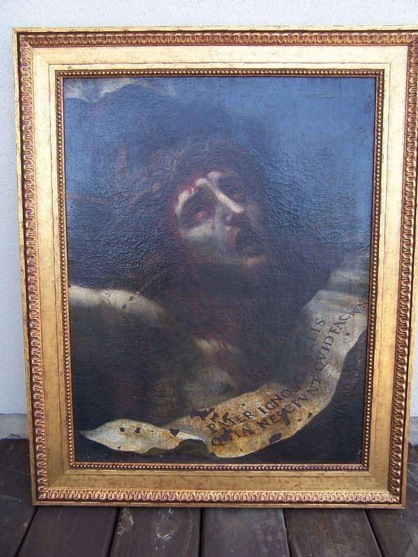 A Very Good 17th century Italian School Oil Painting, Ecce Homo