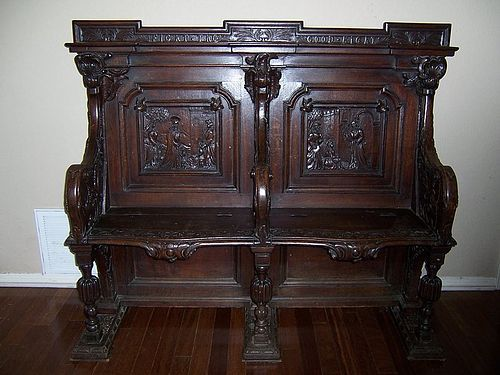 A Very Fine 19th Century Carved Oak Choir Bench